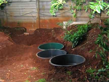 First pond Plastic pond tubs